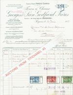 Facture 1938 SOIGNIES - Fours à Chaux GEORGES & LEON GODFROID FRERES - Belgique