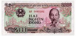 VIET NAM 2000 DONG 1988 Pick 107a Unc - Vietnam