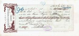 Prima-Wechsel Style ART NOUVEAU 1898 - LEIPZIG - J.G. SCHELTER & GIESECKE - Schriftgiesserei-Maschinenfabrik - Allemagne