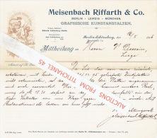 Brief 1896 - BERLIN - MÜNCHEN - LEIPZIG - MEISENBACH, RIFFARTH & C° - Graphische Kunstanstalten, Steindruckerei, Pho - Non Classés