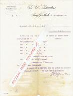 Brief 1901 - BERG-GLADBACH - J. W. ZANDERS - Papierfabrik - Allemagne