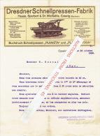 Brief 1910 - COSWIG (Sachsen) - Hauss, Sparbert & Dr Michaëlis - Dresdner Schnellpressen Fabrik - Allemagne