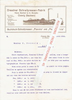 Brief 1910 - COSWIG (Sachsen) Bei DRESDEN - Hauss, Sparbert & Dr Michaëlis - Dresdner Schnellpressen Fabrik - Allemagne