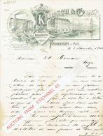 Brief 1900 - FRANKFURT AM MAIN - KLIMSCH & C° - Fabrication De Plaques D'impression Et De Machines Pour L'imprimerie - Allemagne