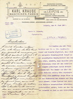 Brief 1900 - LEIPZIG - Karl KRAUSE - Eisengiesserei Und Maschinenfabrik Für Die Gesammte Papier-industrie - Allemagne