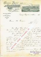 Brief 1898 - LEIPZIG-PLAGWITZ - GUSTAV NAJORK - Chromo-Papier Und Carton-Fabrik - Allemagne