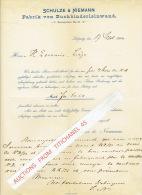 Brief 1900 LEIPZIG - SCHULZE & NIEMANN - Fabrik Von Buchbinderleinwand - Allemagne