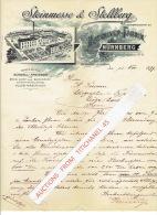 Brief 1899 - NURNBERG - STEINMESSE & STOLLBERG - Maschinen-fabrik : Schnell-pressen Für Stein,- Licht- Und Blechdruc - Allemagne