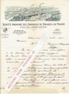 Brief 1900 - ROTH Près NUREMBERG - SOCIETE ANONYME DES FABRIQUES DE BRONZES EN POUDRE Ancienne Maison Charles SCHLENK - Non Classés
