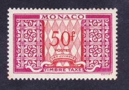 TIMBRE MONACO TAXE NEUF * TRACE CHARNIERE N°38A - Portomarken