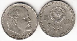 RUSIA 1970. CENTENARIO DE LENIN 1870/1970  1 RUBLO . CN4174 - Rusia