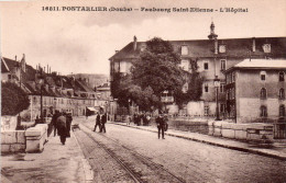 Cpa  25  Pontarlier  , Faubourg Saint-etienne , L'hopital - Pontarlier