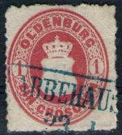 Abbehausen 23/1 Auf 1 Groschen Rot - Oldenburg Nr. 17 A - Pracht - Oldenburg