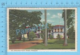 CPSM, Philipines ( Malacanan Palace, Manila  ) Linen Postcard Recto/Verso - Philippines
