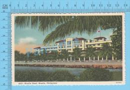 CPSM, Philipines ( Manila Hotel, Manila  ) Linen Postcard Recto/Verso - Philippines