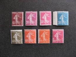 A). TB Serie N° 189 Au N° 196, Neufs XX. - Francia