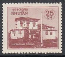 BHUTAN 1984  Monasteries,  Religion, Buddhism, 25 Ch Shemgang Monastery,  MNH(**) - Buddismo