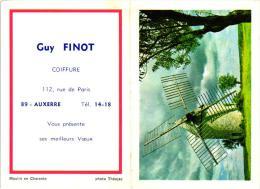 CALENDRIER 1970,GUY FINOT COIFFURE 112 RUE DE PARIS A AUXERRE REF 42393 - Petit Format : 1961-70