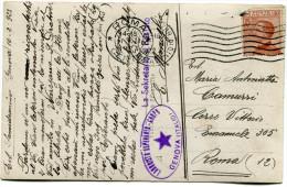 ITALIE THEME ESPERANTO CARTE POSTALE ECRITE EN ESPERANTO DEPART GENOVA 10-2-1923 ARRIVEE ROMA 11-2-1923 - Esperanto