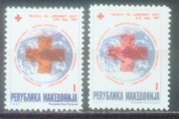 MK 1997-ZZ93 RED CROSS, MACEDONIA, 1 X 2v, MNH - Macedonië