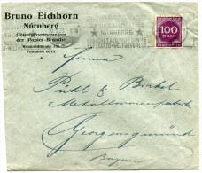 ALLEMAGNE THEME ESPERANTO ENVELOPPE OBLITERATION AVEC FLAMME KONGRESON DE ESPERANTO 2a-8a DE AUGUSTO 1923 * NURNBERG *.. - Esperanto