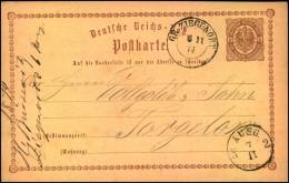 GR. ZIEGENORT, Preussen-Nachverwendung Auf P1 1874 - Machine Stamps (ATM)