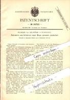 Original Patentschrift - Florian Von Grubinski In Warschau , 1881 , Fuhrwerk Für Enge Wege , Kutsche , Jaskolka !!! - Transport