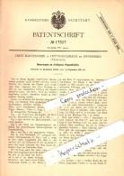Original Patent - Fritz Bartenstein In Hüttensteinach B. Sonneberg , 1881 , Drehbare Köpfe Für Puppen !!! - Puppen