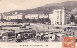 CPA-20-corse-Bastia-animée Les Quais Place St-nicolas Ll 53 - Bastia