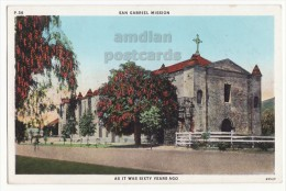 CALIFORNIA SAN GABRIEL MISSION VIEW  Ca 1860s-1870s ~c1920s-30s Vintage Postcard [5779] - Missions