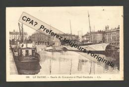 LE HAVRE 76 - Bassin De Commerce Et Place Gambetta - Yacht De Plaisance L' ARIANE Et Remorqueur HONFLEUR - Le Havre