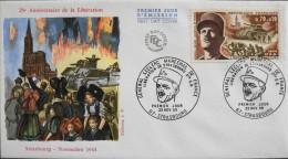 ENVELOPPE 1er JOUR 1969 - Maréchal LECLERC - Strasbourg Le 22.11.1969 - En Parfait état - - 1960-1969