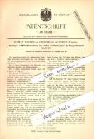Original Patent - Gustav Daverio In Oberstrass B. Zürich , 1880 , Mehlsichtemaschinen , Mühle !!! - ZH Zürich
