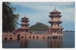 TAIWAN ~ Spring-Autumn Pavilions TSOYING C1950´s Postcard - Taiwan