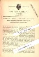 Original Patent - Emil Hoster In Burgwaldniel B. Schwalmtal , 1881 , Schneiden Von Baumwollsamt , Klemme & Co In Krefeld - Schwalmtal