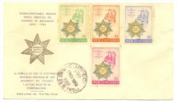 PERU 80c, 1.10S, 1.20s, And 1.50S Lima Bar Association Anniversary 1958 FDC. - Pérou
