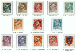 FRANCE PREOBLITERES - TYPE MARIANNE DE GANDON + ARMOIRIES Y/T N° 94 A 105 ** - 1893-1947