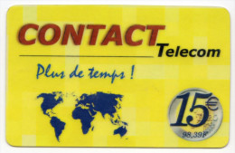 GUADELOUPE CONTACT TELECOM Ref MV CARD ANTF CT3 15€ - Antilles (Françaises)