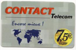 GUADELOUPE CONTACT TELECOM Ref MV CARD ANTF CT2 7,5€ - Antilles (Françaises)
