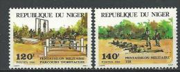 "Niger YT 637 Et 638 "" Penthalon Militaire "" 1984 Neuf** - Níger (1960-...)"