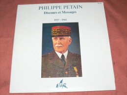 PHILIPPE PETAIN  1927 - 1942   DISCOURS ET MESSAGES  DEUX DISQUES  GUERRE WWII  RESISTANCE  EDIT   POLYDOR 1970 - Collector's Editions