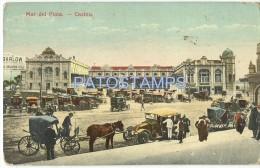 3914 ARGENTINA MAR DEL PLATA VISTA DEL CASINO & CARRIAGE A HORSE YEAR 1926 POSTAL POSTCARD - Argentinien