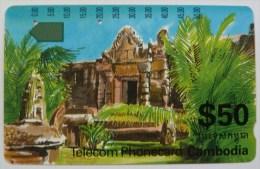 CAMBODIA - 2nd Issue - $50 - Anritsu - Temple - Used - Cambodia