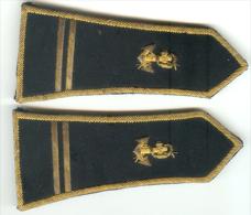 SPENCER OFFICIER Infanterie Coloniale Paire De  Pattes Epaules En Cannetille  Lieutenant - Armée De Terre