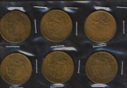 Romania 500 Lei 1945,lot 6 Coins,good Condition - 2/scans - Roumanie