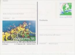 Germany 1995 Hansephil '95 Postal Stationery Postcard Unused (19995) - [7] West-Duitsland