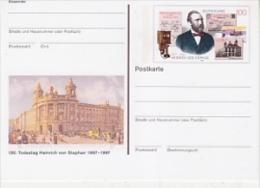 Germany 1997 Heinrich Van Stephan Postal Stationery Postcard Unused (19996) - [7] West-Duitsland