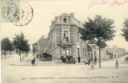 SAINT-QUENTIN -- BOULEVARD GAMBETTA ET RUE BENEZET   Pli Verticale état - Saint Quentin