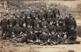 CPA SUISSE CARTE PHOTO OCCUPATION DES FRONTIERES BATAILLON POSTE DE CAMPAGNE (au Verso ALB RAMSTEIN FRIBOURG - FR Fribourg