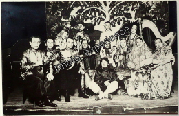 CPA Carte Photo Musicien Spectacle Tzigane Russe Russian Gipsy 1930 PARIS 75 - Francia